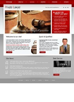 Private Lawyer HTML template