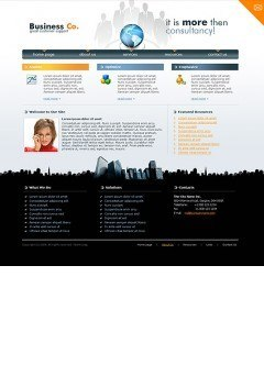 Business co. Website template