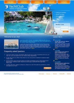 Yacht club html dreamweaver template