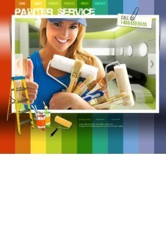 Painter Service Easy flash template