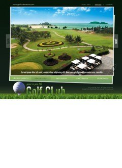 Golf Club Easy flash template