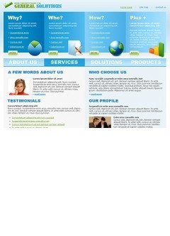 General Solutions html dreamweaver template