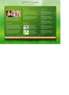 Green Business Easy flash template