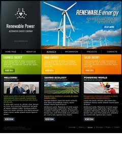 Renewable Power html dreamweaver template