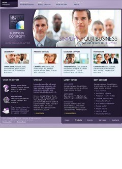 Business Company Website template