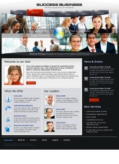 Business Success Website template