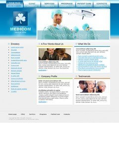 Medical Clinic Website template