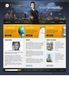 City Community Website template