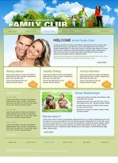 Family Club Website template