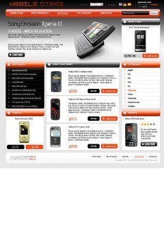 Mobile Store osCommerce