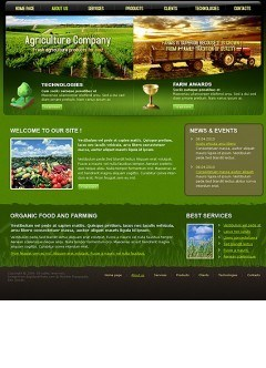 Agriculture Company Website template