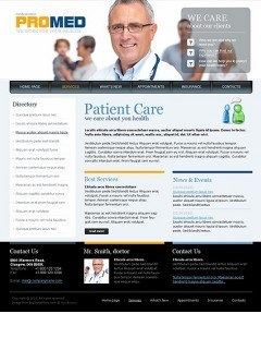 Medical Clinic html dreamweaver template
