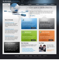 Global Business HTML template