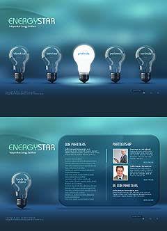 Energy Company Easy flash template