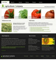 Agriculture html dreamweaver template