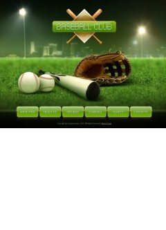 Baseball club Easy flash template