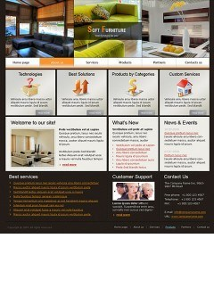 Soft Furniture html dreamweaver template