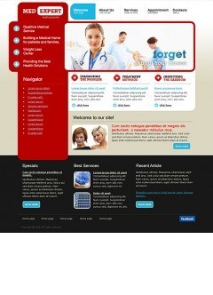 Med Expert Website template