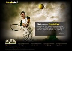 Tennis Club Easy flash template