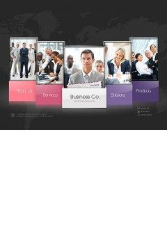 Business company Easy flash template