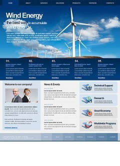 Wind Energy html dreamweaver template