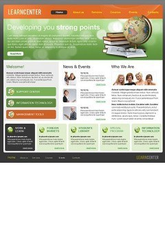 Learning Center html dreamweaver template