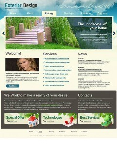 Exterior design Website template