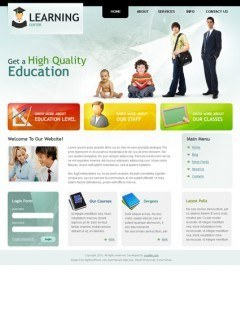 Learning Center v1.5 Joomla template