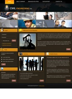 Civil Engineering v1.5 Joomla template