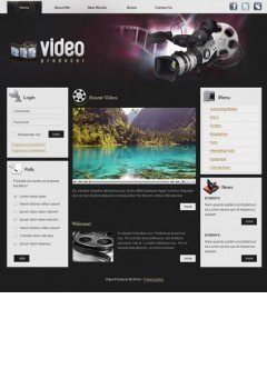 Video Producer v1.5 Joomla template