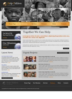 Charity html dreamweaver template