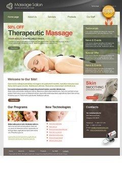 CSS Massage Salon html dreamweaver template