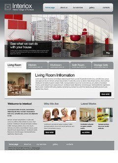 Interior Design html dreamweaver template