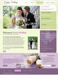 Wedding Planner HTML template