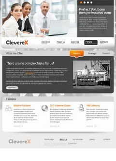 Clever Business html dreamweaver template