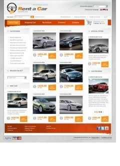 Rent a car osCommerce