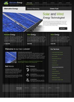 Alternative Energy html dreamweaver template
