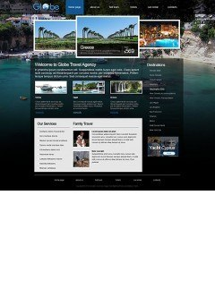 Travel Agency html dreamweaver template