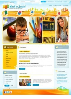 Back to school v2.5 Joomla template
