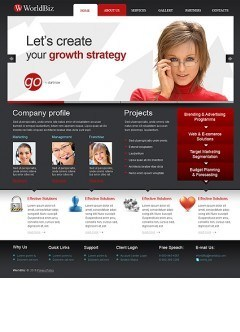 World Business HTML template