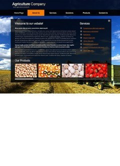 Agriculture Co. html dreamweaver template