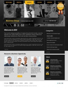 Business Group html dreamweaver template