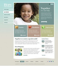 Charity Hope html dreamweaver template