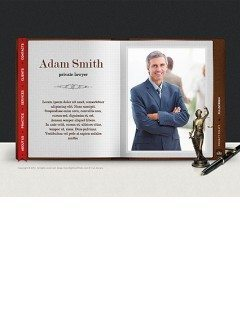 Lawyer Book Easy flash template
