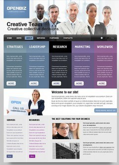 Open Business html dreamweaver template