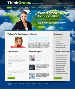 Think Green html dreamweaver template