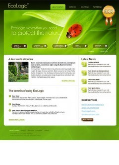 Ecology html dreamweaver template