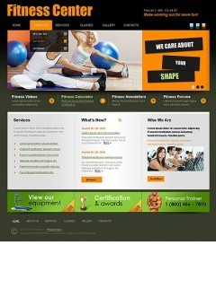 Fitness Center html dreamweaver template