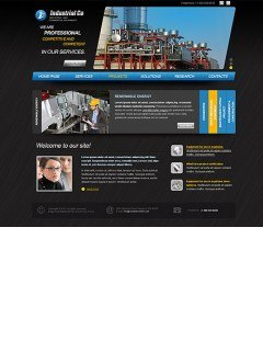 Industrial Company html dreamweaver template