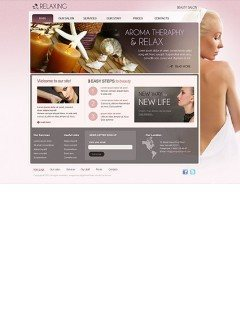 Relax Salon html dreamweaver template
